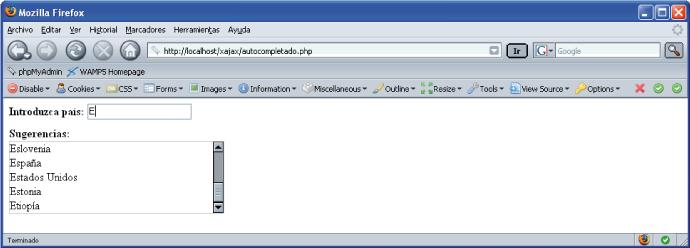 Figura 1. Captura de pantalla de la aplicación