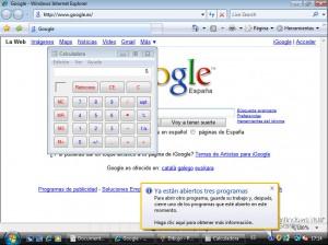 Limitación ejecución software Microsoft Windows Vista Starter