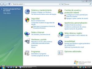 Panel de Control Windows Vista Starter
