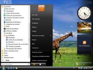 Menu Inicio Microsoft Windows Vista Starter