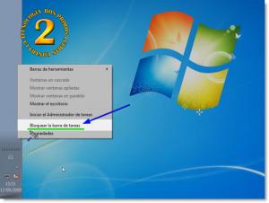 Windows 7 - Barra de tareas situada en lateral y propiedades