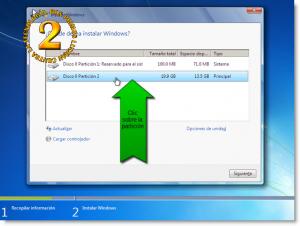 Windows 7 - Particionando en la instalación
