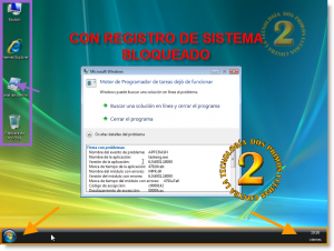 Registro de Windows Bloqueado