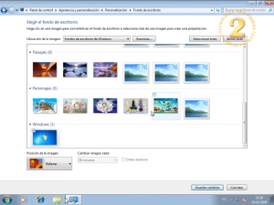 El escritorio de Windows 7