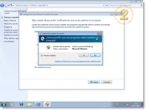 Windows 7 UAC - Modo de Escritorio seguro deshabilitado
