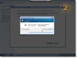Windows 7 UAC - Modo de Escritorio seguro habilitado