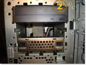 Detalle bahías 5 1/4  Hp Proliant ML150 G3