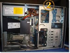 Vista interior de Hp Proliant ML150 G3