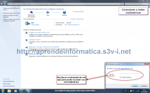 Contraseña de red inalámbrica en Windows 7
