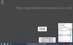Conectado a red inalámbrica en Windows 7