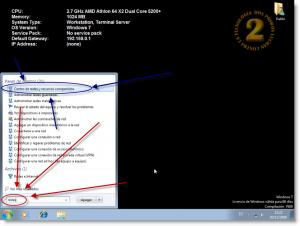 Windows 7 - Centro de redes y recursos compartidos