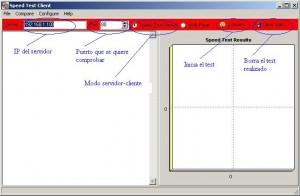 Modo para hacer la medición de transferencia entre cliente y server, usando el puerto 80 (por default, pero se puede cambiar).
