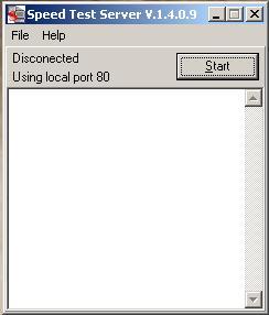 Lado del servidor, donde usa el puerto 80 para hacer la medición de tràfico.