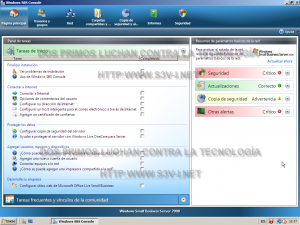 Windows Server SBS 2008 - Consola SBS