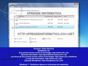 Windows 7 - Particionar en la instalación