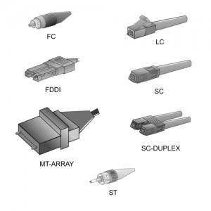Tipos de conectores que se utilizan
