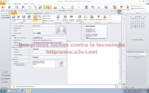 Microsoft Office Outlook 2010 - Edición de contactos