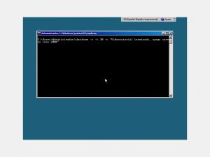 Apagando Server Core 2008