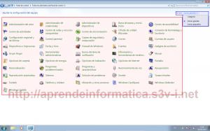 Windows 7 - Vistas Panel de Control