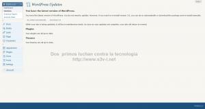 Wordpress 3.0 - Panel de actualizaciones