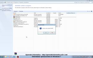 Windows 7 - Desinstalar un programa desde el Panel de Control