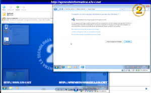 Windows 7 - Crear un Grupo Hogar