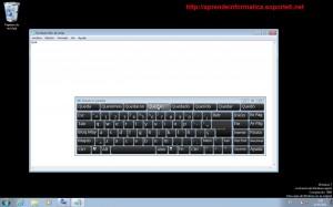 Windows 7 - Teclado en pantalla