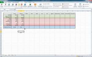 Excel 2010 - Contabilidad doméstica detallada