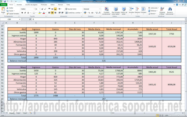 Excel 2010 - Contabilidad doméstica avanzada