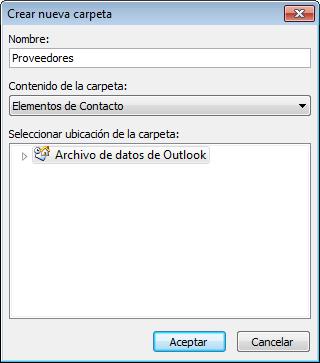 Outlook 2010 - Organizar contactos
