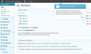 Wordpress 3.3 - Ayuda en pantalla