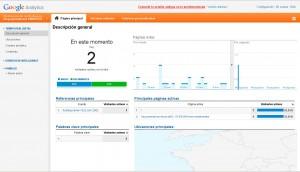 Google Analytics - Estadísticas a tiempo real
