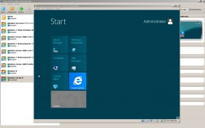Windows Server 8 - Start Screen