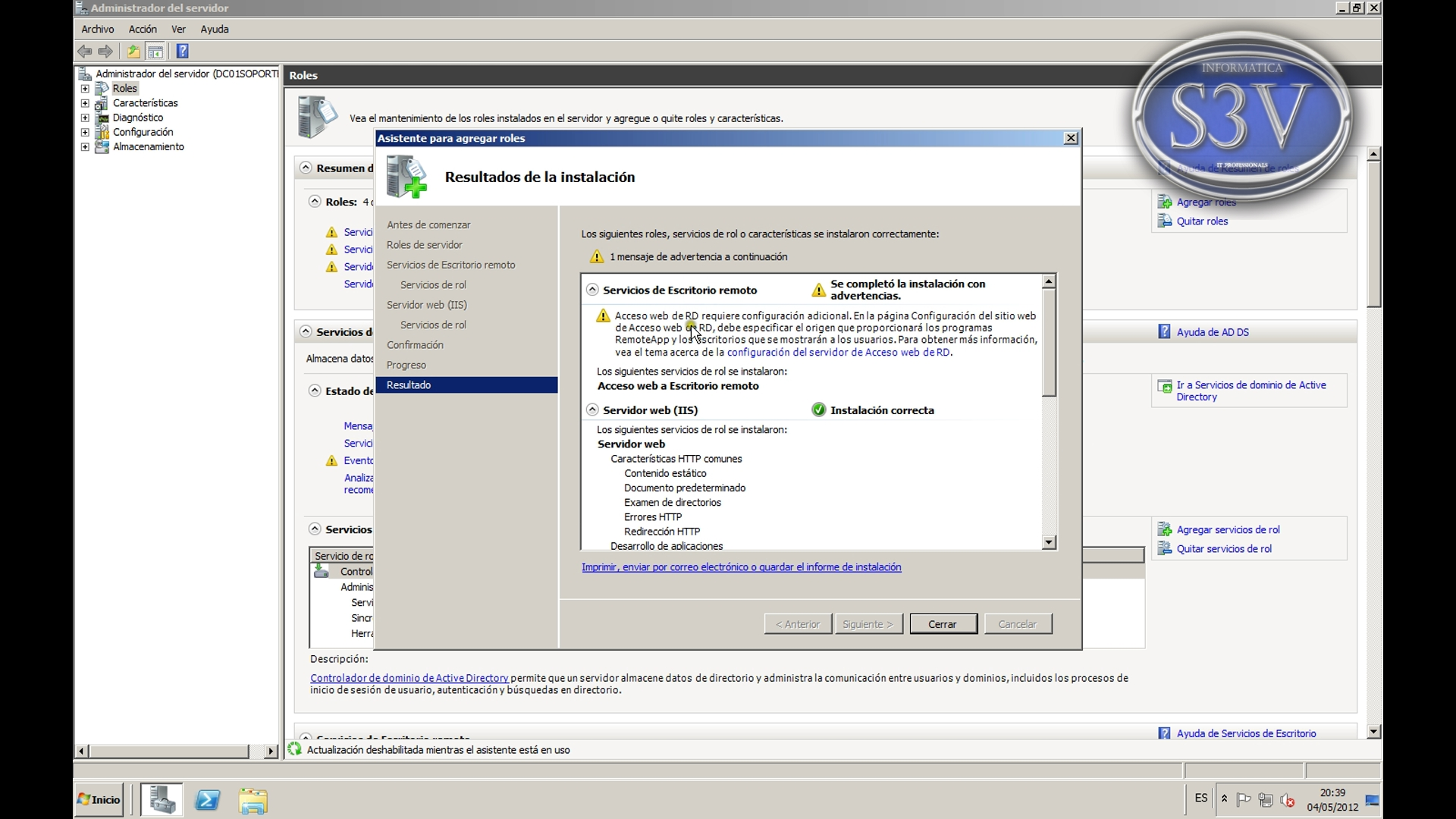 Windows Server 2008 r2 - Escritorio Remoto vía Web con RDWEB - Vídeo ...