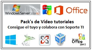Pack's de vídeos sobre Windows, Offices, Server, virtualización