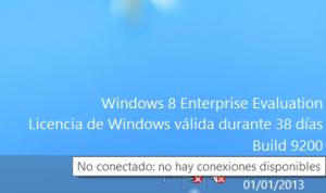 Windows 8 - Estado de la tarjeta de red