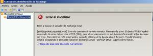 Error Exchange 2010