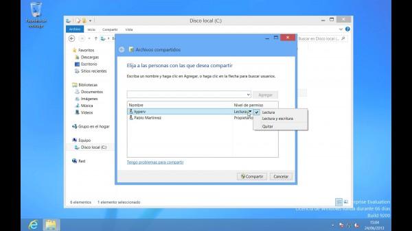 Hyper-V - Compartir archivos entre Host y VM