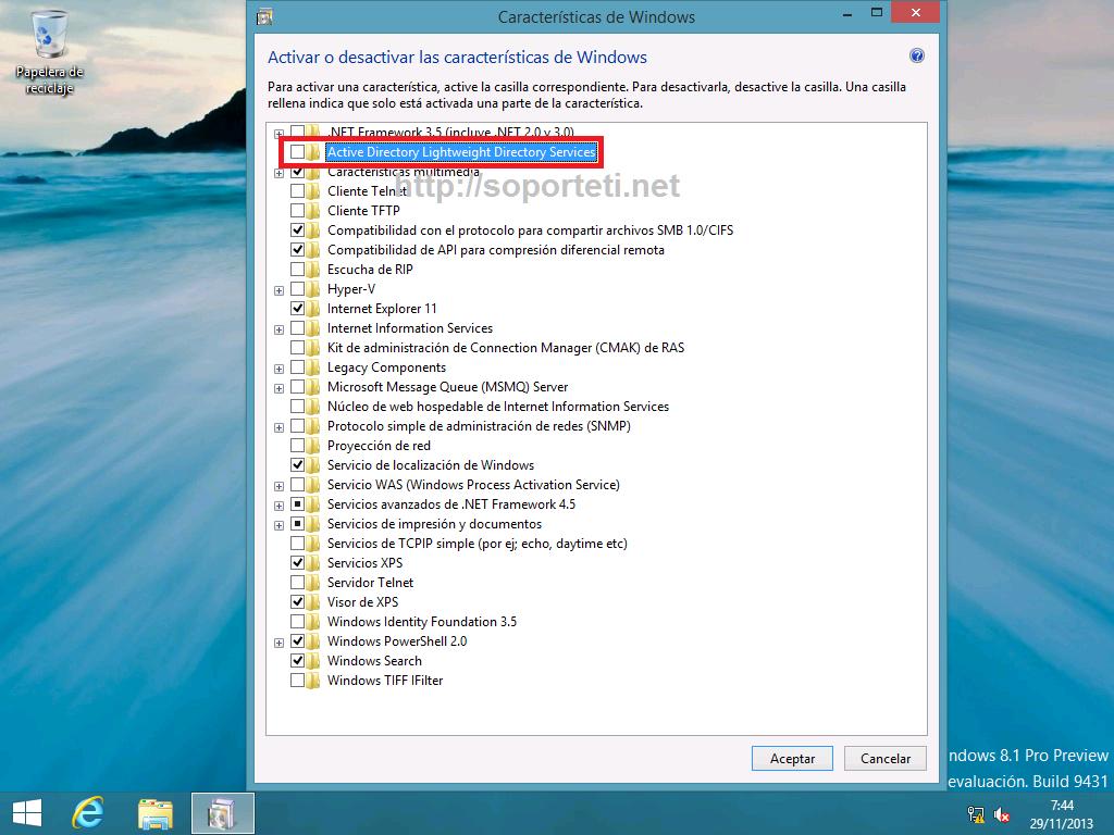 Windows 8 - AD LDS