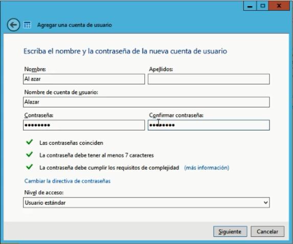 Windows Server Essentials 2012 - Crear usuario