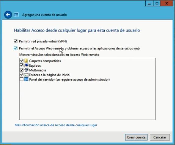 Windows Server Essentials 2012 - Crear usuarios