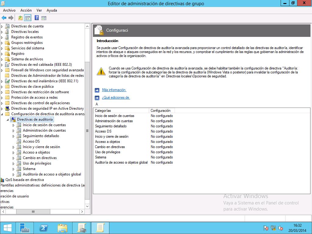 Windows Server 2012 - GPO - Audotria