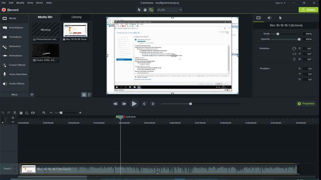 Camtasia – Problema de captura de pantalla negra – 1 Solución