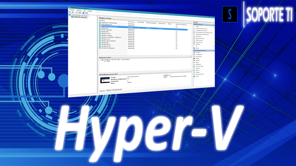 El script que habilita la virtualización anidada en Hyper-V en Windows 10 / Windows Server 2016