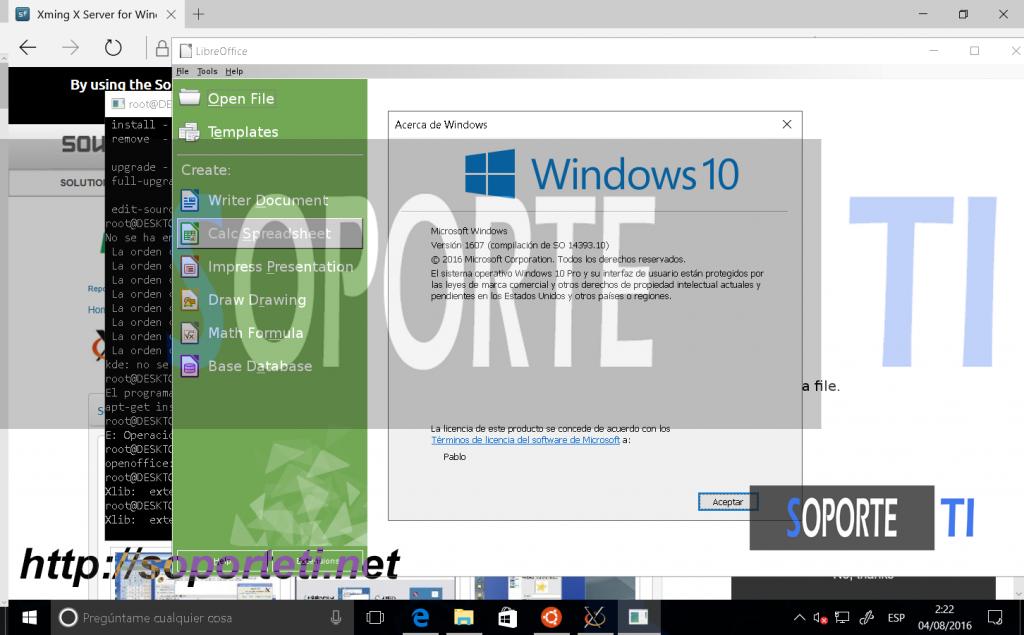Bash en Windows 10