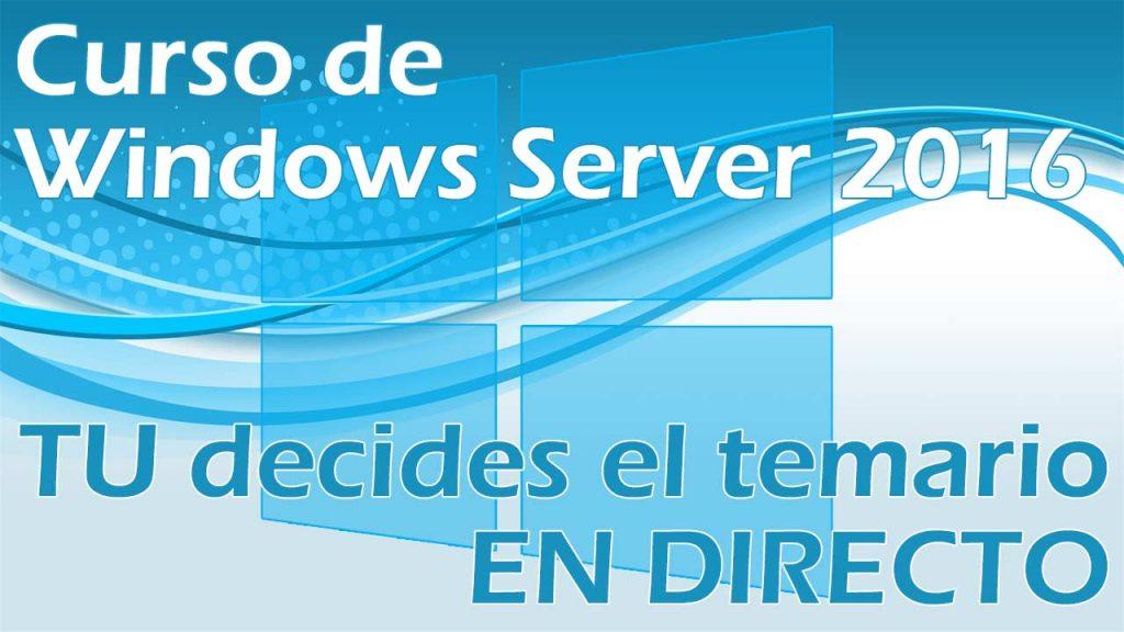Evento en directo – Windows Server 2016