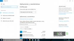 Aplicaciones - Windows 10 Creators Update