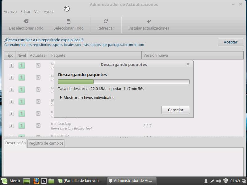 Linux MINT - SoporteTI - Actualizando