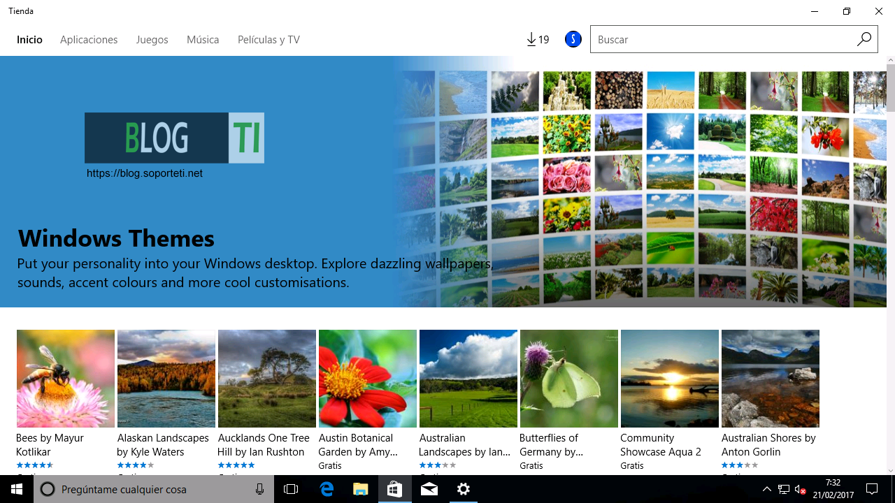 Personalizacion - Windows 10 Creators Update