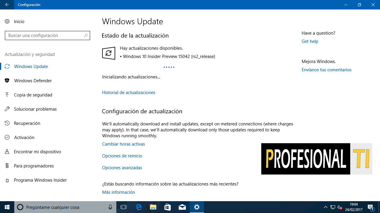 build 15042 - Windows 10 Creators Update
